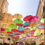 パリの傘の画像