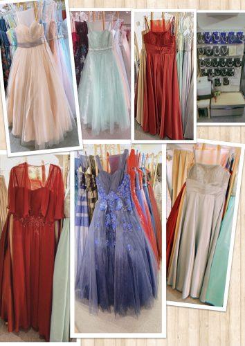 ドレスとアクセサリーの画像