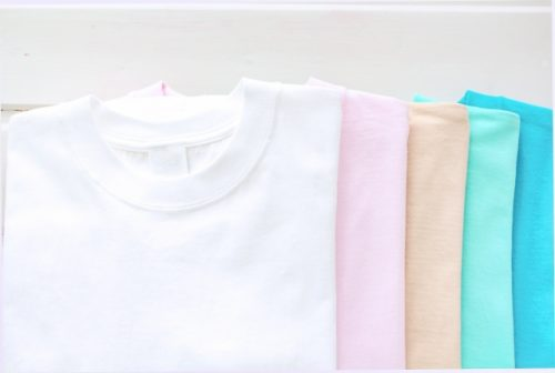 無地のTシャツの画像