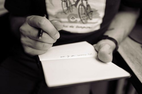 ノートに書き込む画像