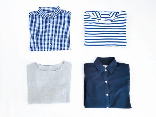 ブルー系のお洋服の画像